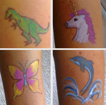 Faceprinting stamps Dinosaur unicorn